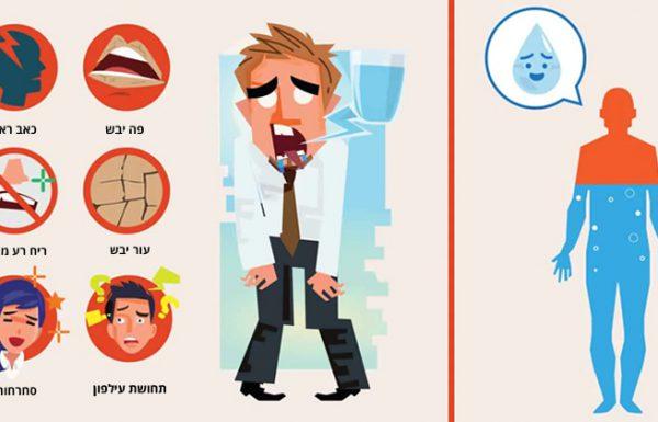 12 סימנים להתייבשות שאסור להתעלם מהם