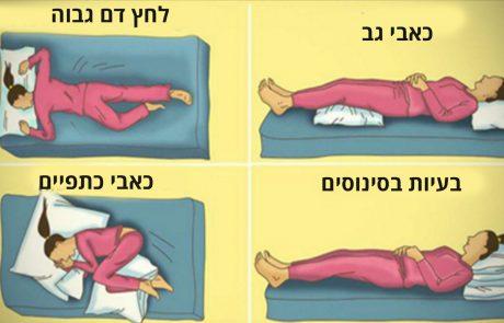 תנוחת השינה הנכונה כדי להפחית כאבים בגב