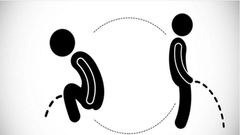 מה בריא יותר לגברים – להשתין בעמידה או בישיבה?
